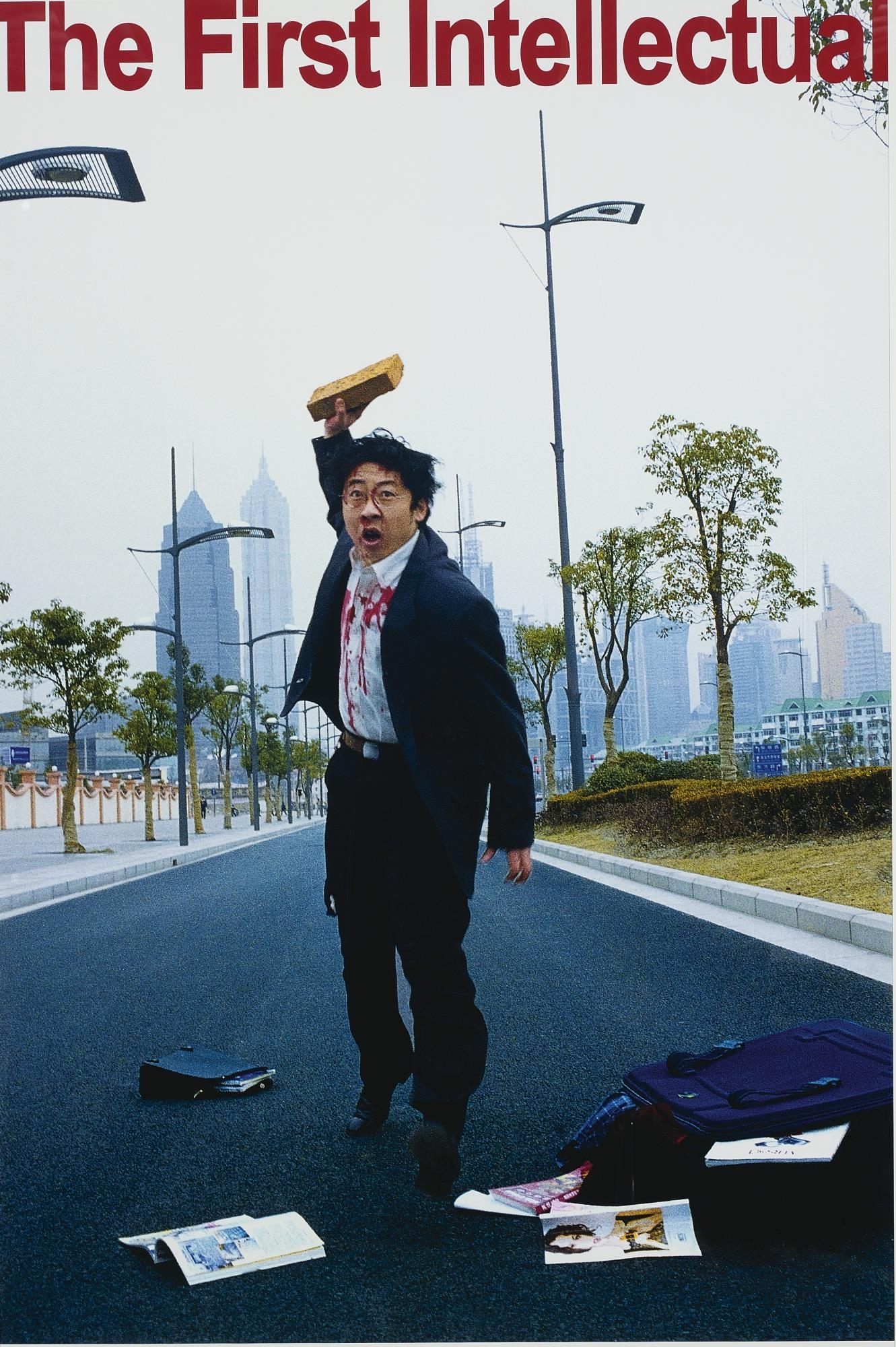 The First Intellectual (Diyi ge zhishi fenzi), 2000, C-print, série de 3 photographies, 193x127 chacune. Édition de 10. (3)