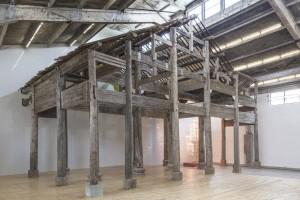 """L'oeuvre """"Wang Family Ancestral Hall"""", présentée à la Galleria Continua de Pékin."""