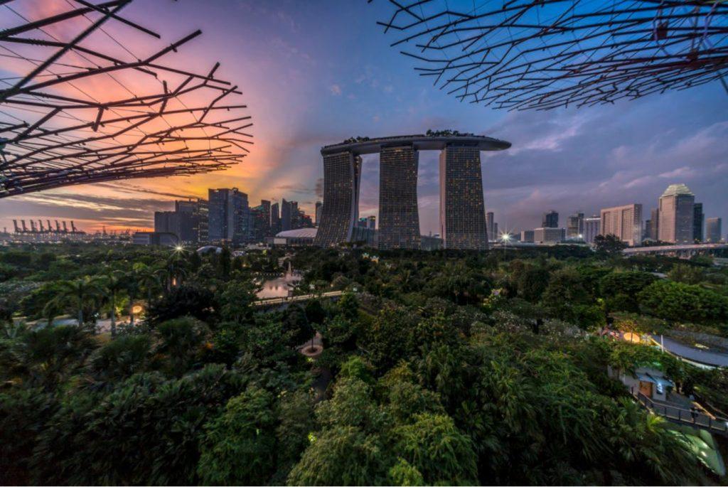 Le Marina Bay Sands, l'hotel emblématique de Singapour où se tiendra la première édition de ART SG